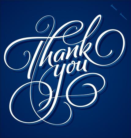 typography signature: GRACIAS letras mano - caligraf�a hecha a mano Vectores