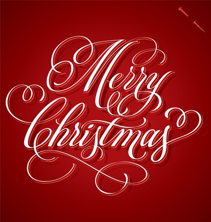 MERRY CHRISTMAS hand lettering - handmade calligraphy Stock Vector - 16391645