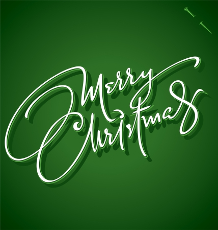 MERRY CHRISTMAS hand lettering - handmade calligraphy Stock Vector - 16402405
