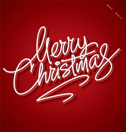 MERRY CHRISTMAS hand lettering - handmade calligraphy Stock Vector - 16391640