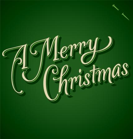 MERRY CHRISTMAS hand lettering - handmade calligraphy Stock Vector - 16402406