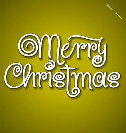 MERRY CHRISTMAS hand lettering - handmade calligraphy Stock Vector - 16402409