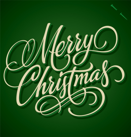 typography signature: MERRY CHRISTMAS hand lettering - handmade calligraphy