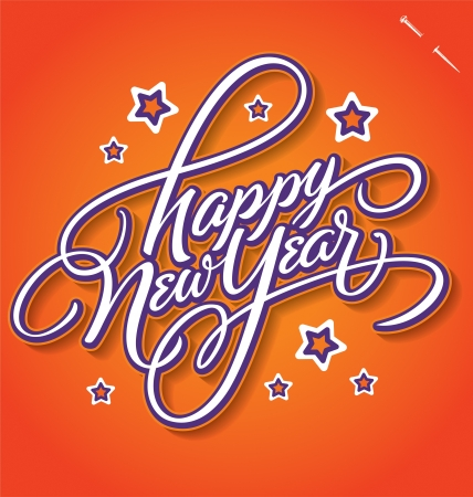 HAPPY NEW YEAR hand lettering vector Stock Vector - 16541540