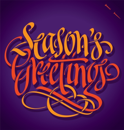 SEASONS GREETINGS hand lettering vector  Stock Vector - 16541533