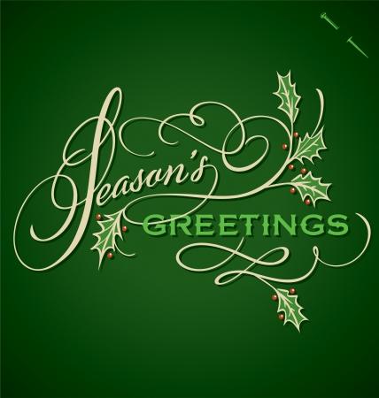 SEASONS GREETINGS hand lettering vector Stock Vector - 16541516