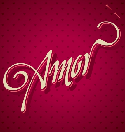 AMOR hand lettering  vector  Stock Vector - 17584124