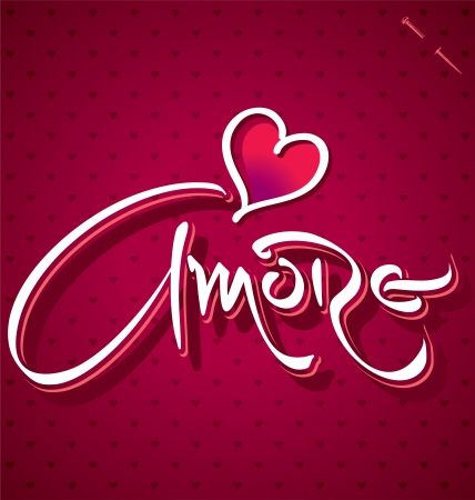 amore: AMORE hand lettering  vector  Illustration