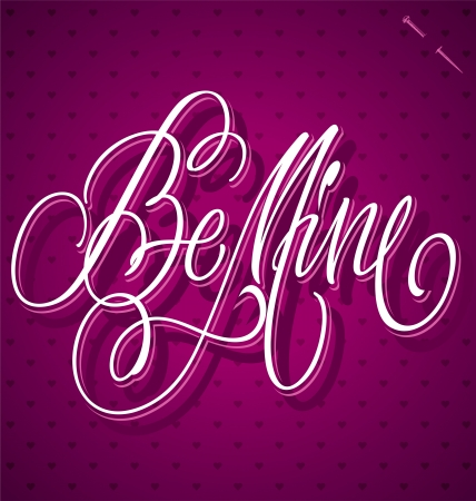 BE MINE hand lettering  vector Stock Vector - 17584131