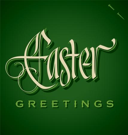EASTER hand lettering  vector