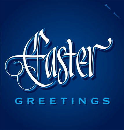 EASTER hand lettering  vector