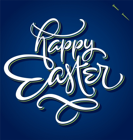 HAPPY EASTER hand lettering  vector  Illustration