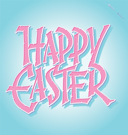 HAPPY EASTER hand lettering  vector  Vector