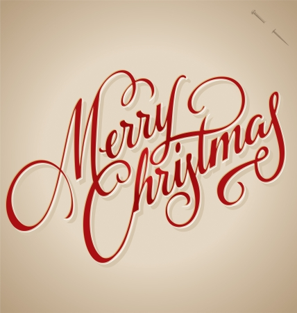 MERRY CHRISTMAS hand lettering  vector  Stock Vector - 21527859