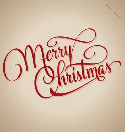 メリー クリスマス手レタリング ベクトル