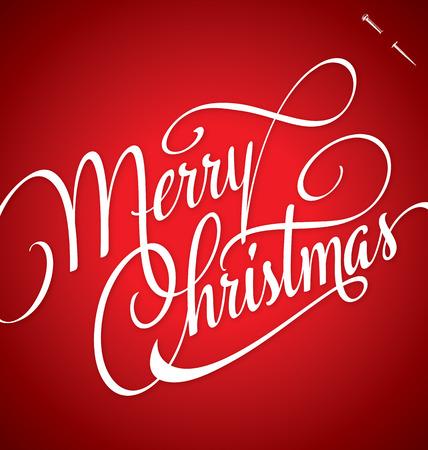 MERRY CHRISTMAS hand lettering - handmade calligraphy, vector  eps8  Illustration