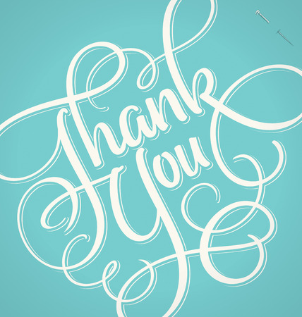 THANK YOU hand lettering -- handmade calligraphy, vector  eps8  Vector