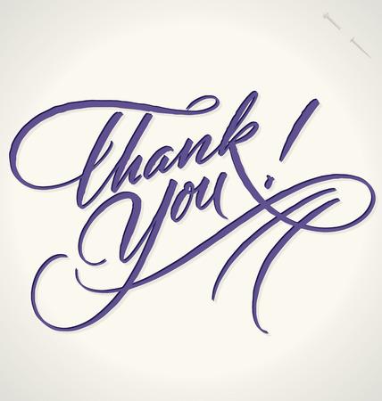 elegante: MERCI lettrage à la main - calligraphie à la main, vecteur eps8