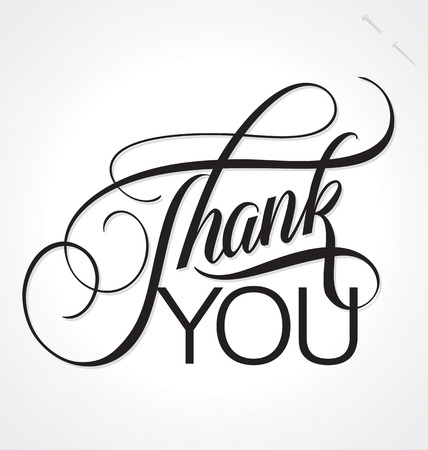 courtesy: THANK YOU hand lettering, vector  eps8