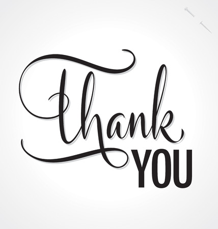 THANK YOU hand lettering, vector  eps8