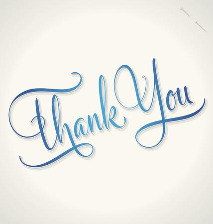 THANK YOU hand lettering -- handmade calligraphy, vector  eps8 Stok Fotoğraf - 28036500