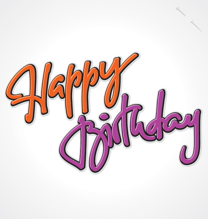 HAPPY BIRTHDAY hand lettering