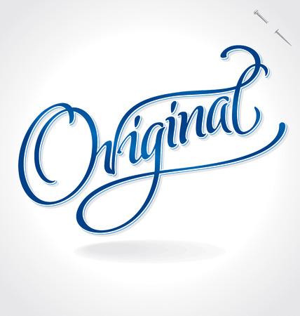 typography signature: Letras de la mano ORIGINAL