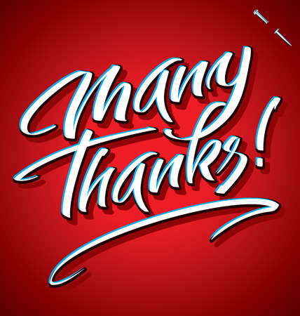 many thanks: MANY THANKS hand lettering