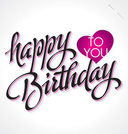 HAPPY BIRTHDAY hand lettering   Çizim