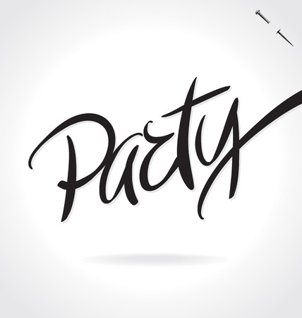 PARTY original custom hand lettering -- handmade calligraphy (vector) Illustration
