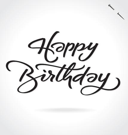 inscription: HAPPY BIRTHDAY lettering