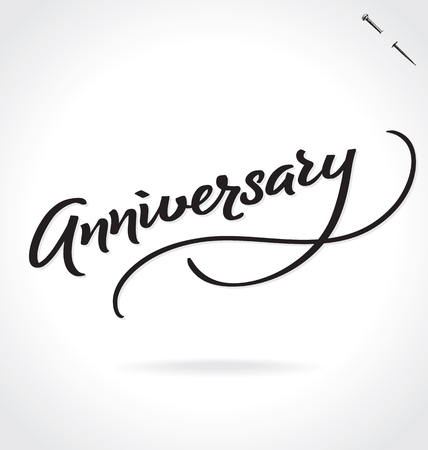 ANNIVERSARY lettering