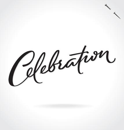 CELEBRATION lettering