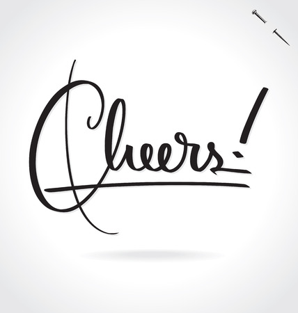 calligraphic: CHEERS lettering