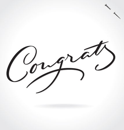 typography signature: CONGRATS lettering Illustration