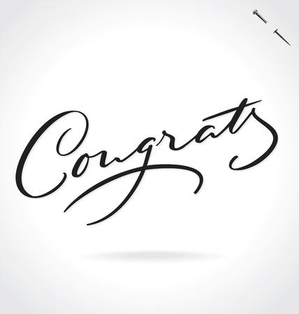 congrats: CONGRATS lettering Illustration