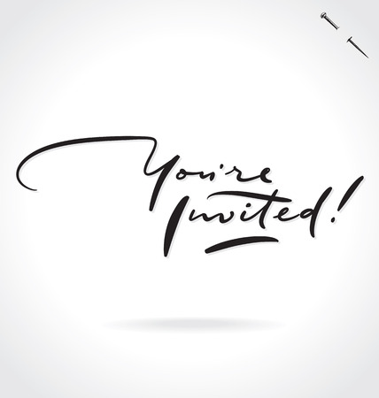 invited: YOURE INVITED lettering