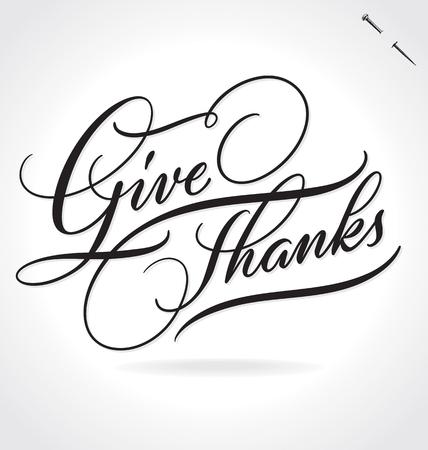 give thanks: GIVE THANKS lettering Illustration