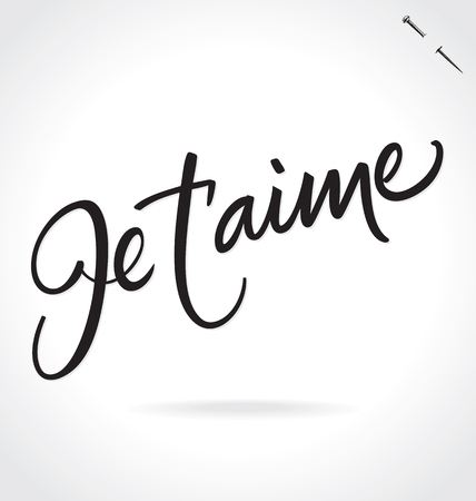 JE TAIME hand lettering