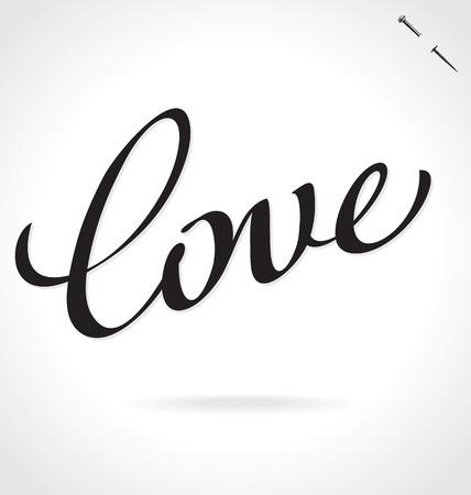 LOVE hand lettering Illustration