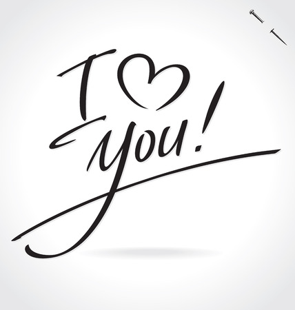 I HEART YOU hand lettering