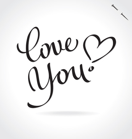 LOVE YOU hand lettering