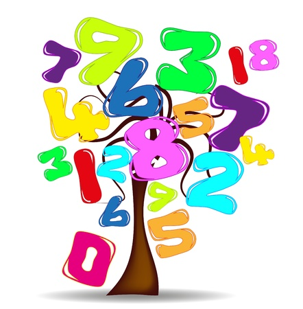 tree with numbers Vector