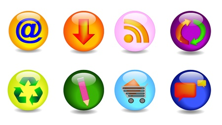 set with key icons, vector in Stock Vector - 9841670