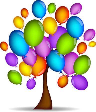 globos de cumplea�os: Globos de �rbol
