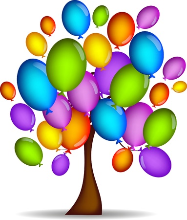 tree balloons Vector