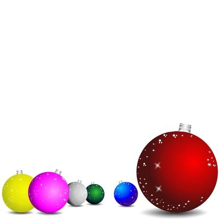 fir tree balls: christmas illustration Illustration