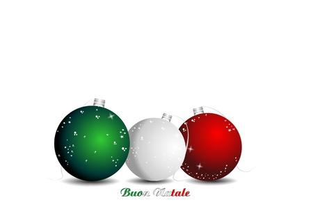 silver balls: christmas italian background, ball flag