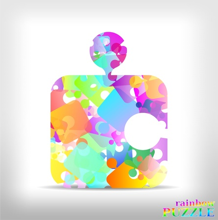 rainbow puzzle Stock Vector - 9933651