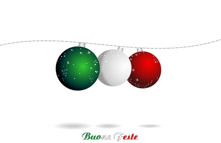 hanging toy: christmas italian background, ball flag